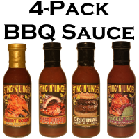 4-Pack BBQ - Sting N Linger Salsa Co.
