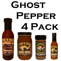 Ghost Pepper 4 Pack - Sting N Linger Salsa Co.