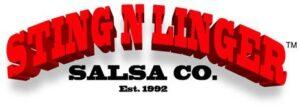 Sting N Linger Salsa Co. Logo - Cerca 1995